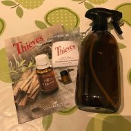 Glass Spray Bottle with **FREE** Young Living Thieves cleaner sample